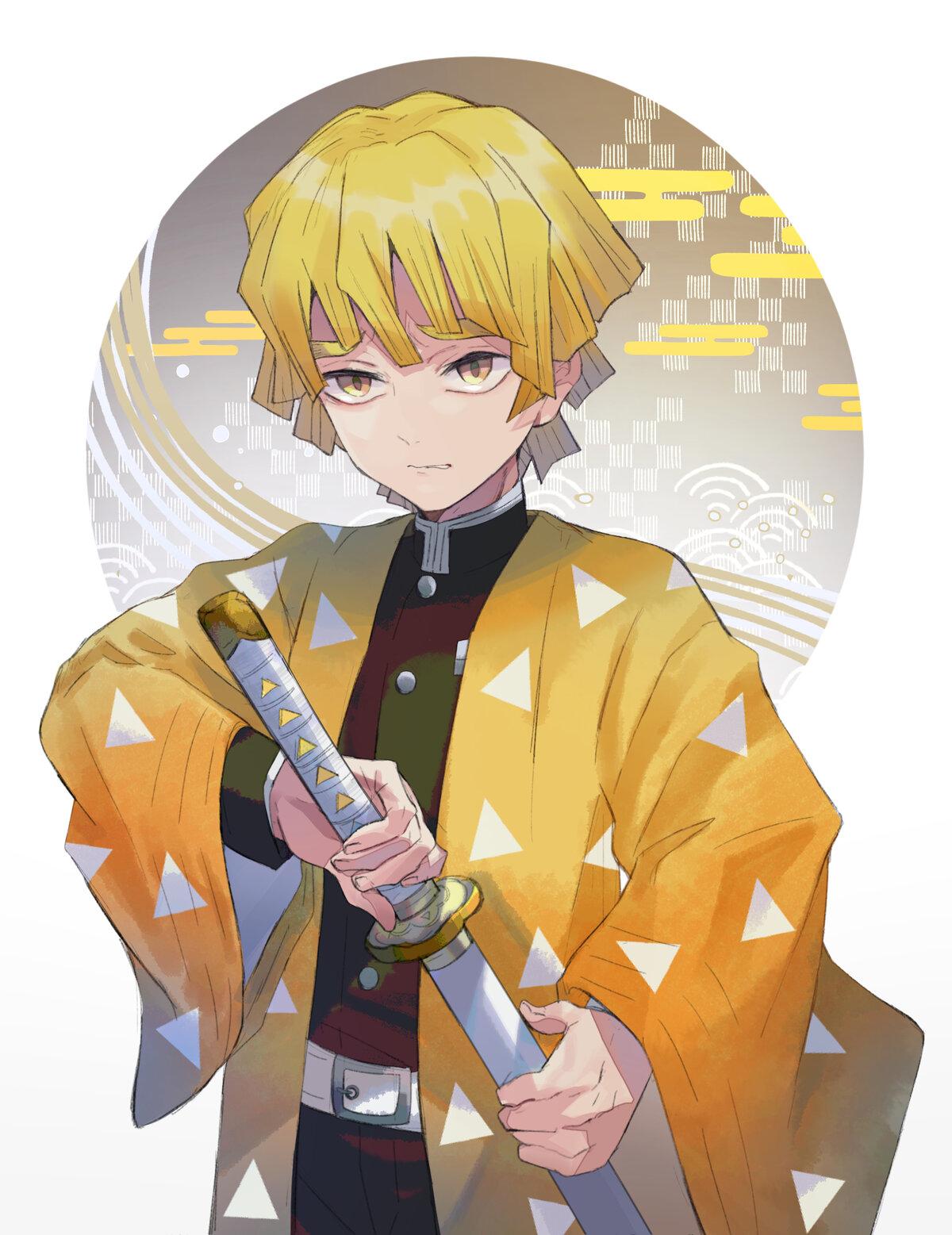 Zenicu Agacuma Iz Anime Klinok Rassekayushij Demonov